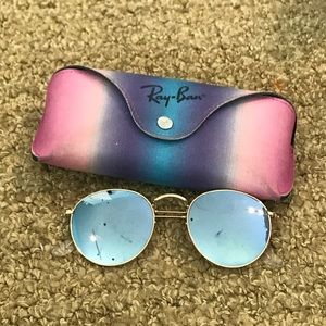 Ray Ban blue mirror round sunglasses